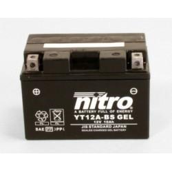Batterie moto NITRO YT12A-BS AGM GEL