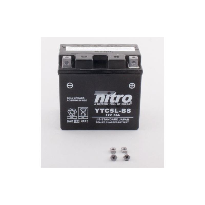 Batterie NITRO pour moto YTC5L-BS