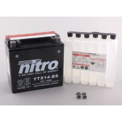 NITRO YTX14-BS AGM ouvert avec pack acide