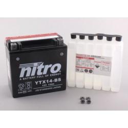Batterie NITRO pour moto YTX14-BS