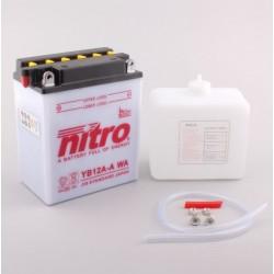 Batterie NITRO pour moto YB12A-A WA