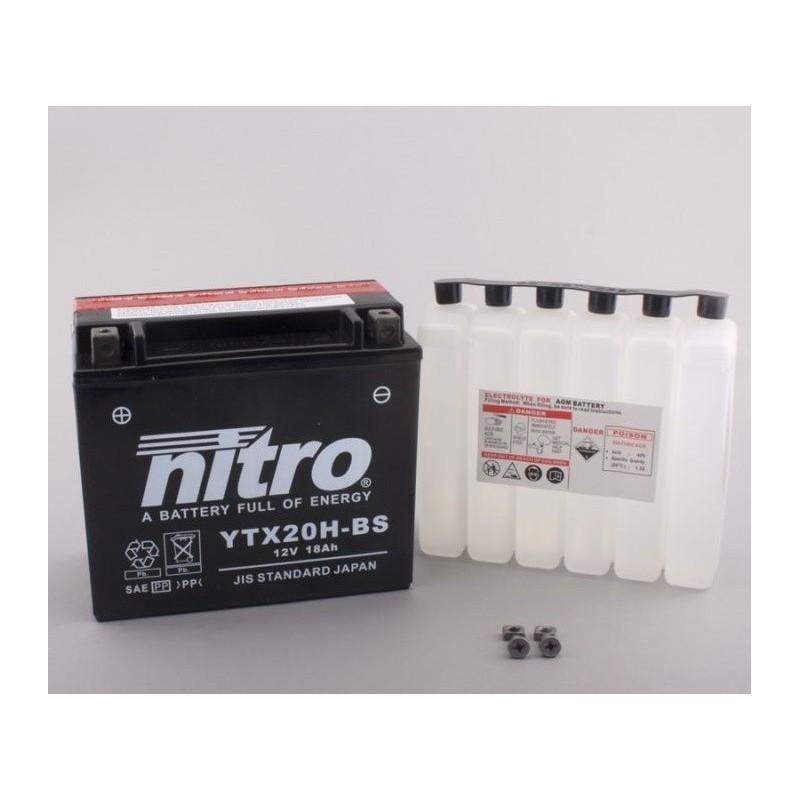 NITRO YTX20H-BS AGM ouvert avec pack acide HP