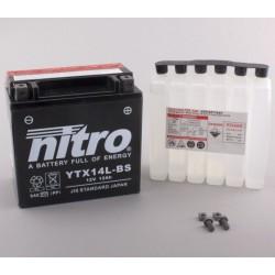 Batterie NITRO pour moto YTX14L-BS