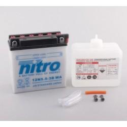 Batterie NITRO pour moto 12N5.5-3B WA