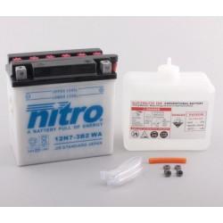 Batterie NITRO pour moto 12N7-3B2 WA