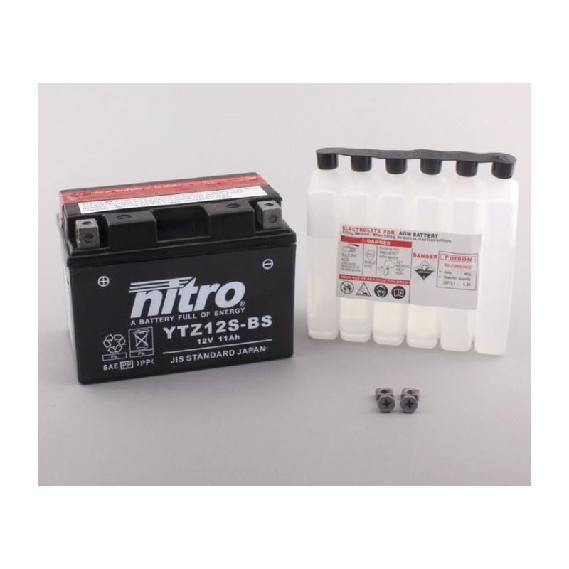 Batterie NITRO pour moto YTZ12S-BS