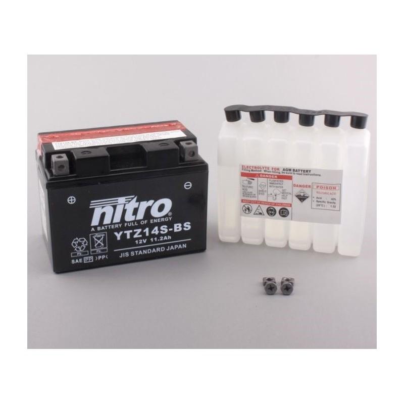NITRO YTZ14S-BS AGM ouvert avec pack acide
