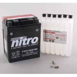 NITRO YTX14AH-BS AGM ouvert avec pack acide H