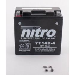 Batterie NITRO pour moto YT14B-4
