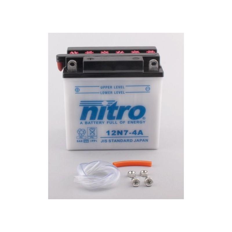Batterie NITRO pour moto 12N7-4A