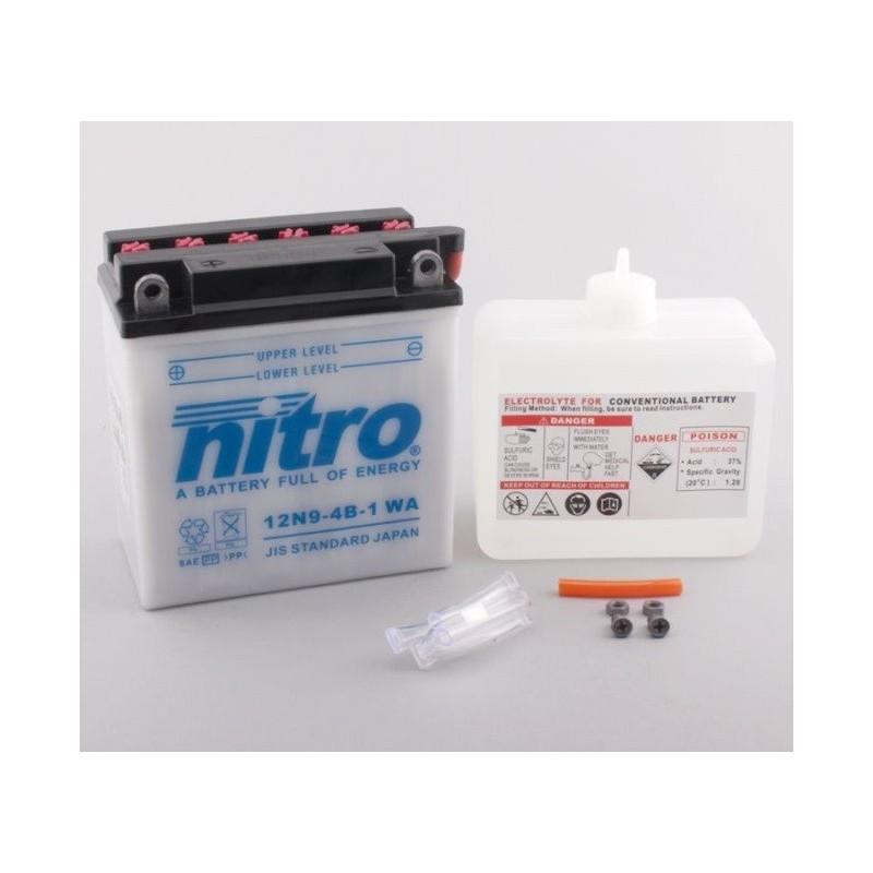 Batterie NITRO pour moto 12N9-4B-1 WA
