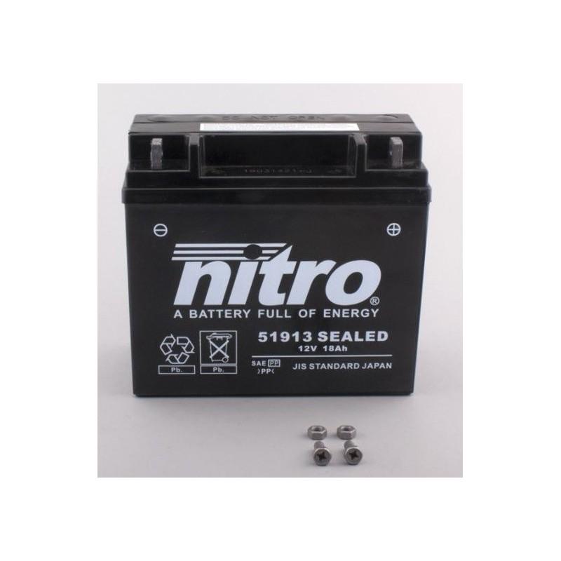 Batterie NITRO pour moto 51913 SEALED