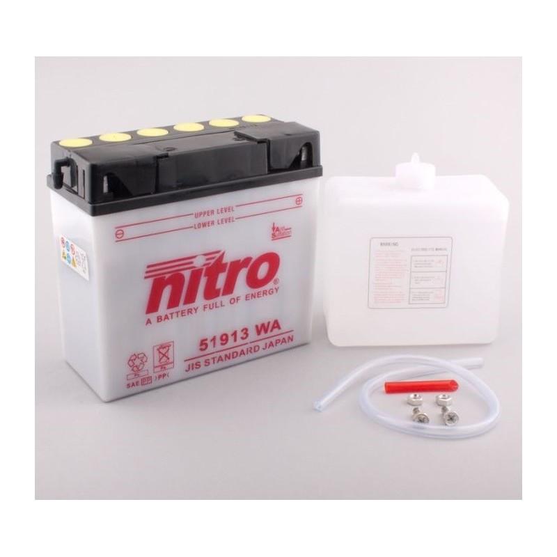 Batterie NITRO pour moto 51913 WA