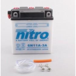 Batterie NITRO pour moto 6N11A-3A