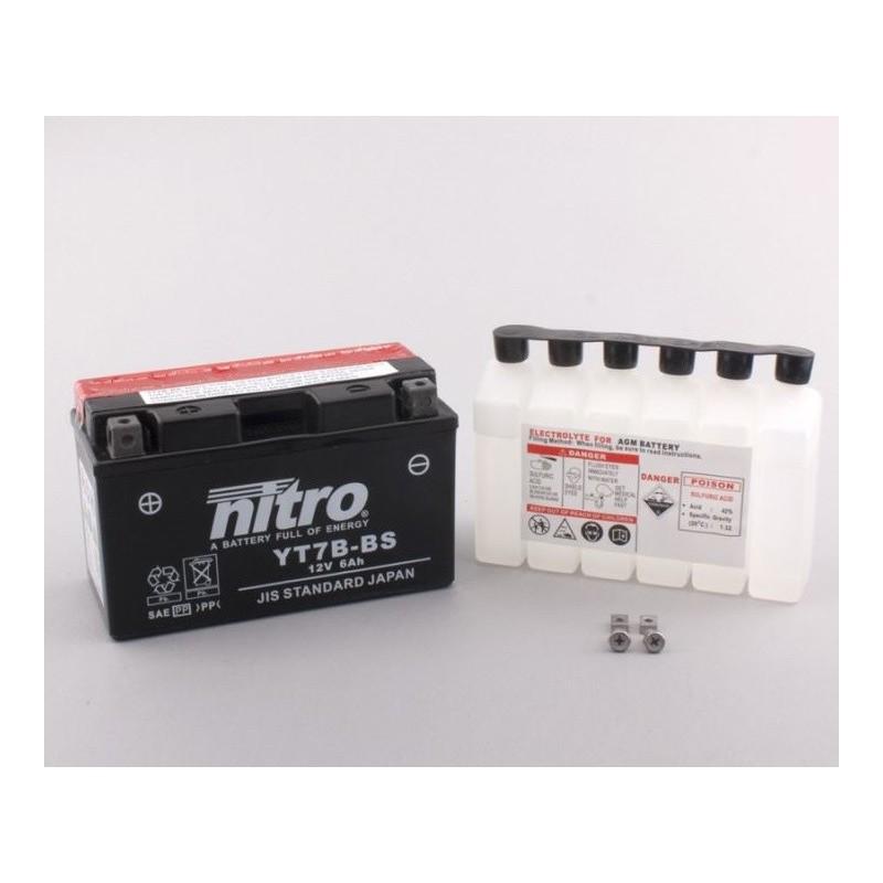 NITRO YT7B-BS AGM ouvert avec pack acide