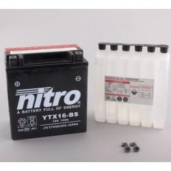 NITRO YTX16-BS AGM ouvert avec pack acide