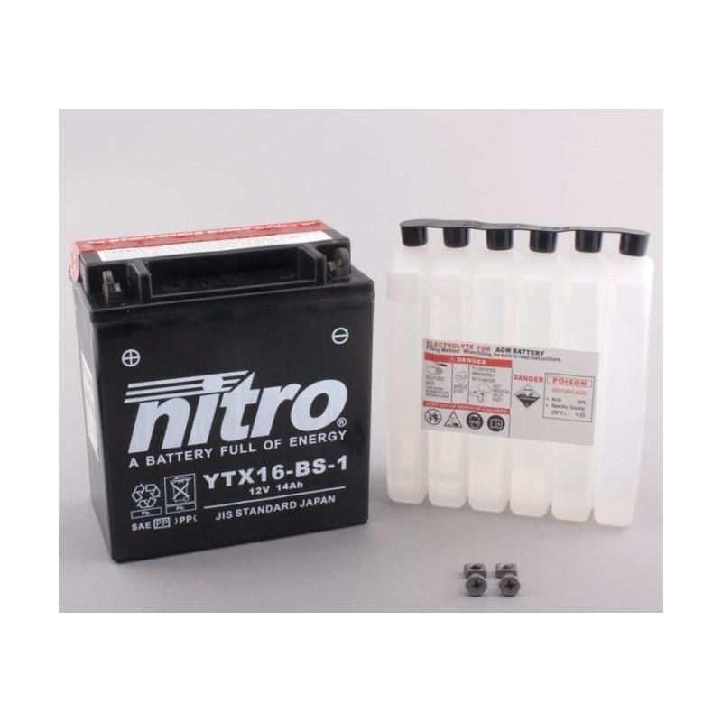 NITRO YTX16-BS-1 AGM ouvert avec pack acide