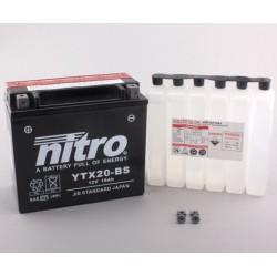 Batterie NITRO pour moto YTX20-BS