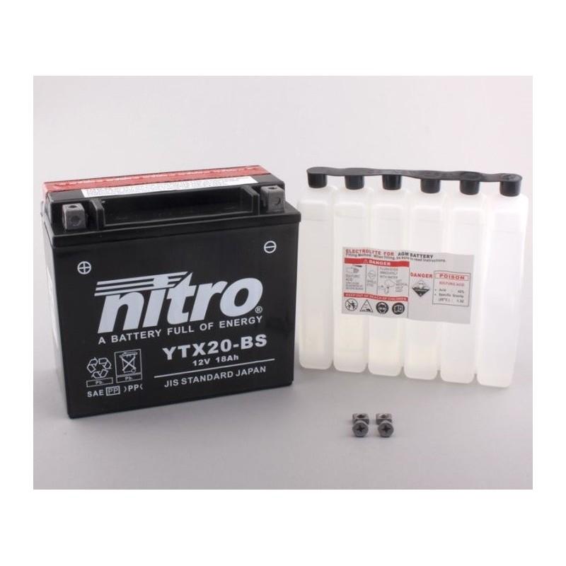 NITRO YTX20-BS AGM ouvert avec pack acide