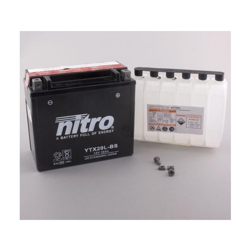 NITRO YTX20L-BS AGM ouvert avec pack acide