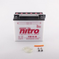 Batterie NITRO pour moto YB16-B