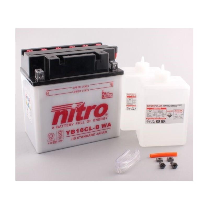 NITRO YB16CL-B ouvert avec pack acide