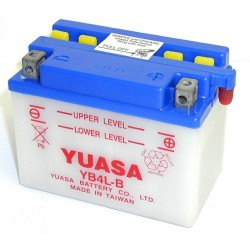 Batterie YUASA pour moto YB4L-B avec acide