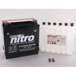NITRO YTX20HL-BS-PW AGM ouvert avec pack acid