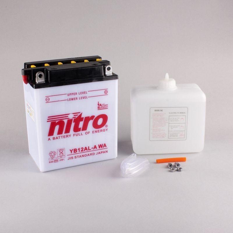 NITRO YB12AL-A ouvert avec pack acide