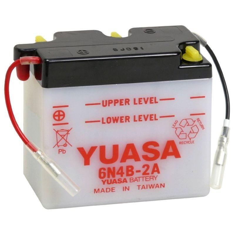 Batterie YUASA pour moto 6N4B-2A
