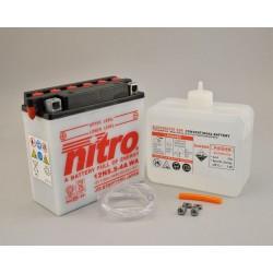 Batterie NITRO 12N5.5-4A ouvert avec pack acide