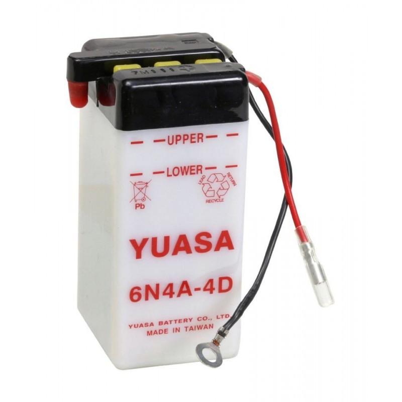Batterie YUASA pour moto 6N4A-4D