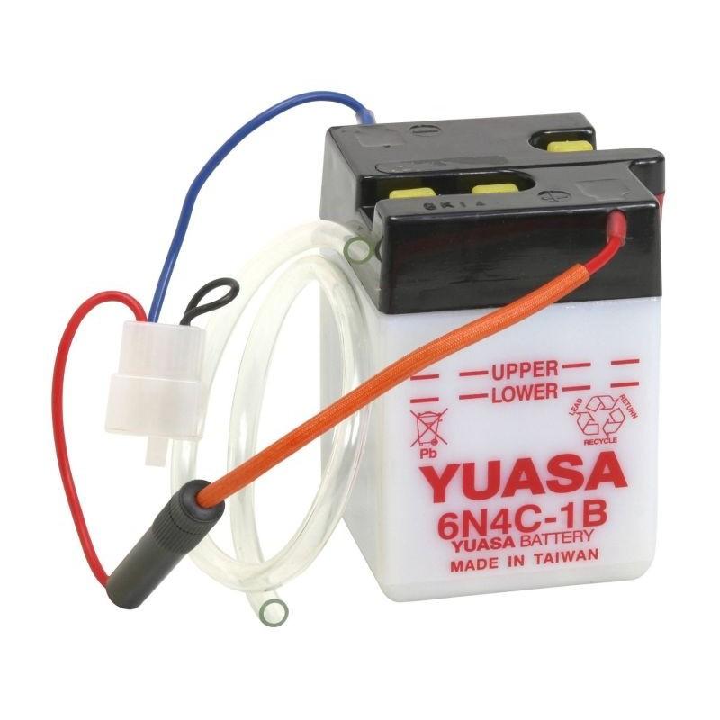 Batterie YUASA pour moto 6N4C-1B