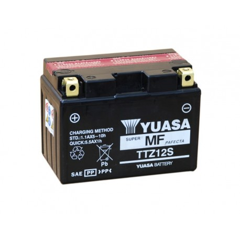 Batterie YUASA pour moto YUASA TTZ12S-BS AGM ouvert avec pack acide