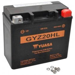 Batterie YUASA pour moto YUASA GYZ20HL AGM