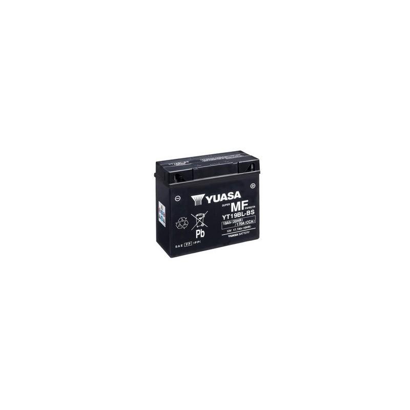 Batterie YUASA pour moto YUASA YT19BL-BS AGM ouvert avec pack acide