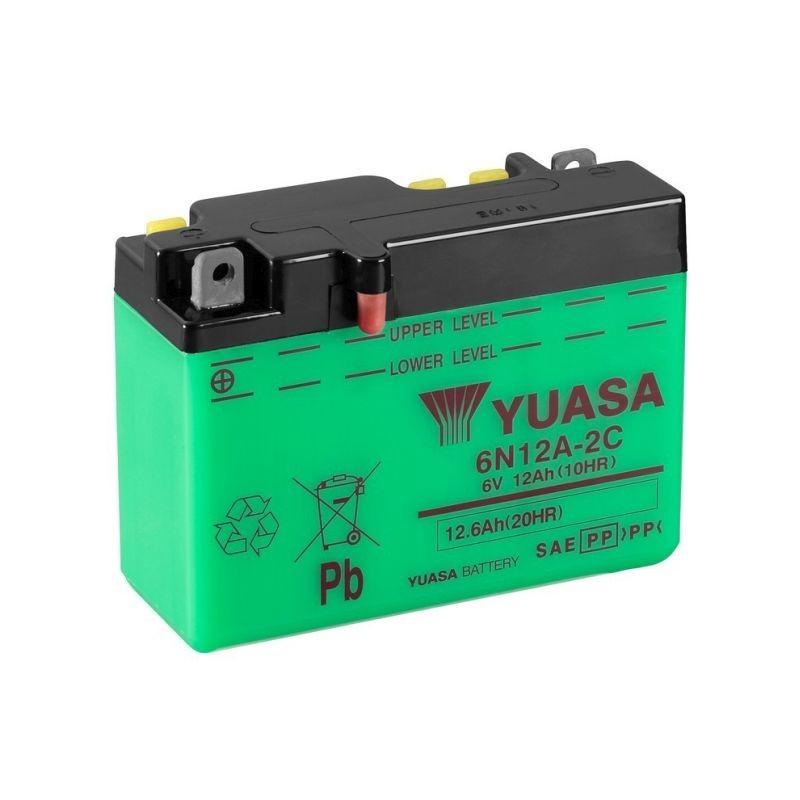 Batterie YUASA pour moto YUASA 6N12A-2C - B54-6