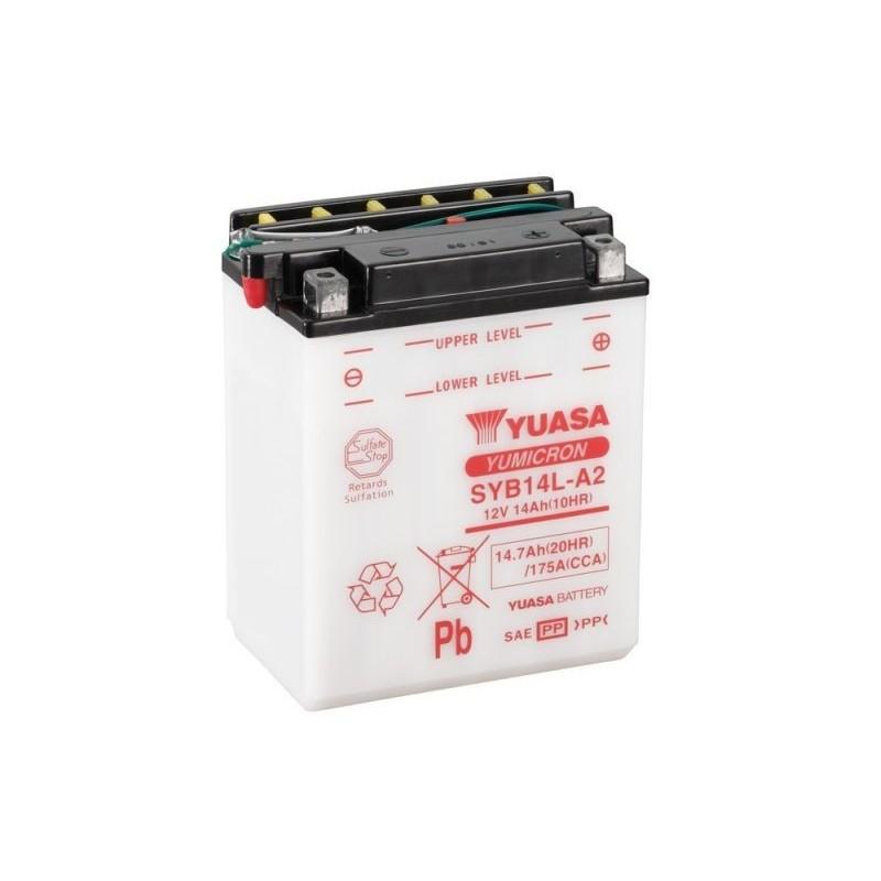 Batterie YUASA pour moto YUASA SYB14L-A2