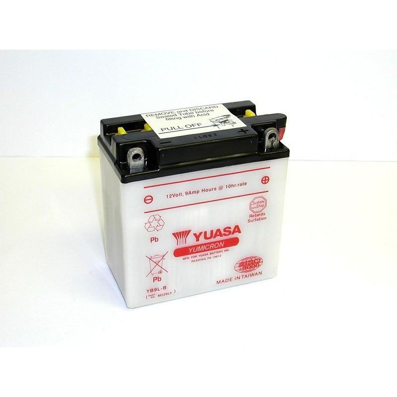 Batterie YUASA pour moto YUASA YB9L-B