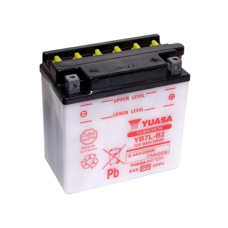 Batterie YUASA pour moto YUASA YB7L-B2 ouvert sans acide