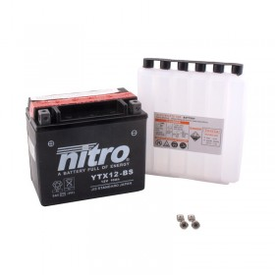 NITRO YTX12-BS AGM ouvert avec pack acide