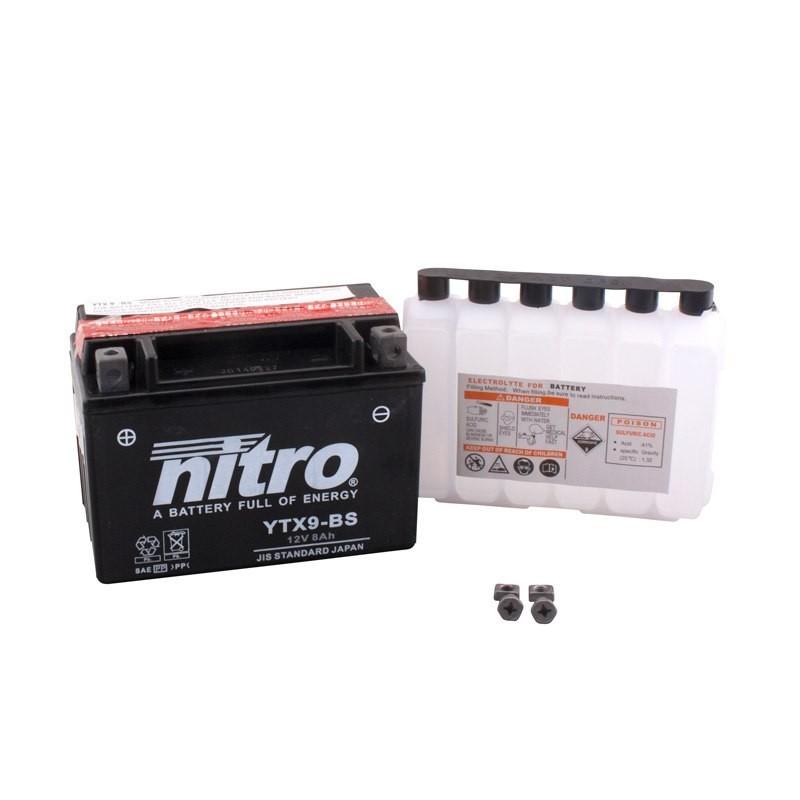 Batterie NITRO pour moto YTX9-BS