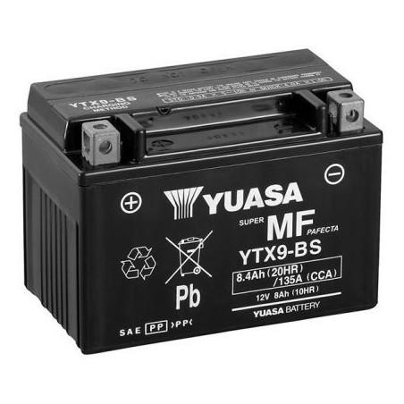 Batterie YTX9-BS YUASA AGM Prête à l'emploi