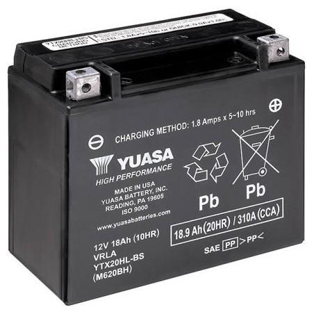 Batterie pour moto YTX20HL-BS YUASA AGM Prête à l'emploi