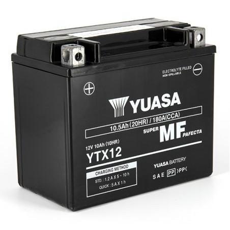 Batterie YUASA YTX12-BS AGM Prête à l'emploi