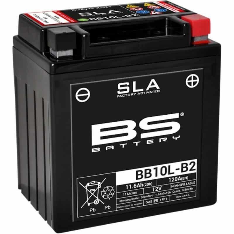 BATTERIE DE MOTO BS BB10L-B2 / A2 SLA Prete à l'emploi