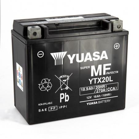 YTX20L-BS YUASA AGM Prête à l'emploi