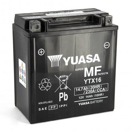 Batterie YUASA YTX16-BS AGM Prête à l'Emploi