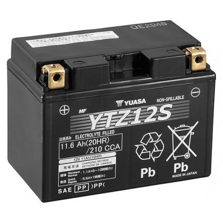 Batterie pour moto YTZ12S YUASA SLA AGM Prête à l'emploi