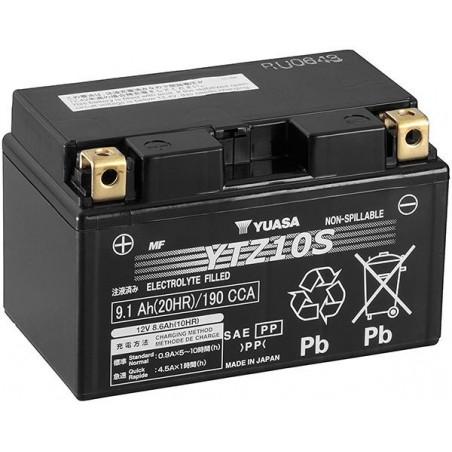 Batterie pour moto YTZ10S YUASA SLA AGM prête à l'emploi